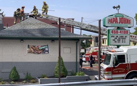 Exhaust fire fills pizza restaurant with smoke