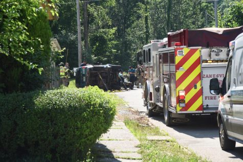 Man sent to hospital following rollover