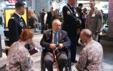 Korean War Medal of Honor recipient Ronald Rosser visits the U.S. Army exhibit at the Association of the United States Army 2010 Annual Meeting & Exposition.