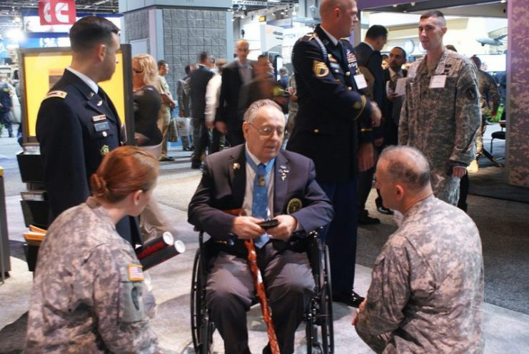 Korean+War+Medal+of+Honor+recipient+Ronald+Rosser+visits+the+U.S.+Army+exhibit+at+the+Association+of+the+United+States+Army+2010+Annual+Meeting+%26+Exposition.+