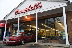 Elderly man drives vehicle into Campbell's