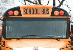 Area school bus struck Tuesday morning