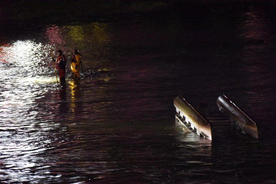 Man found safe after pontoon boat plunges over dam near Y-Bridge Tuesday night