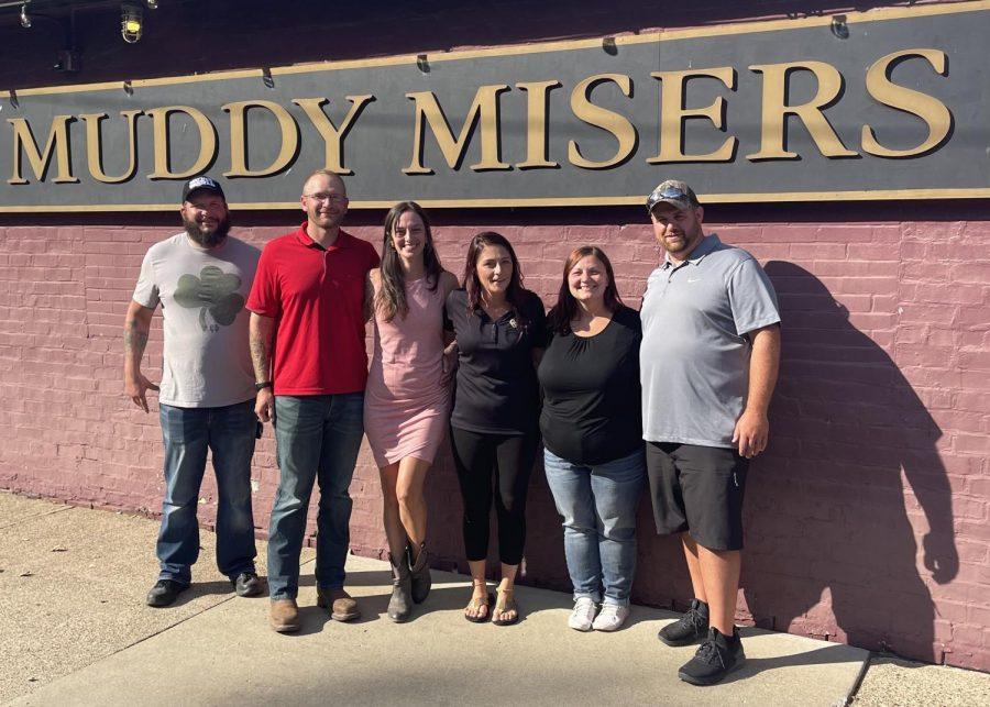 Muddy Misers new owners: Justin Johnson, Nate Johnson, Tracy Johnson, Sarah Larimer, Triffany Kight and Ben Kight (L-R).