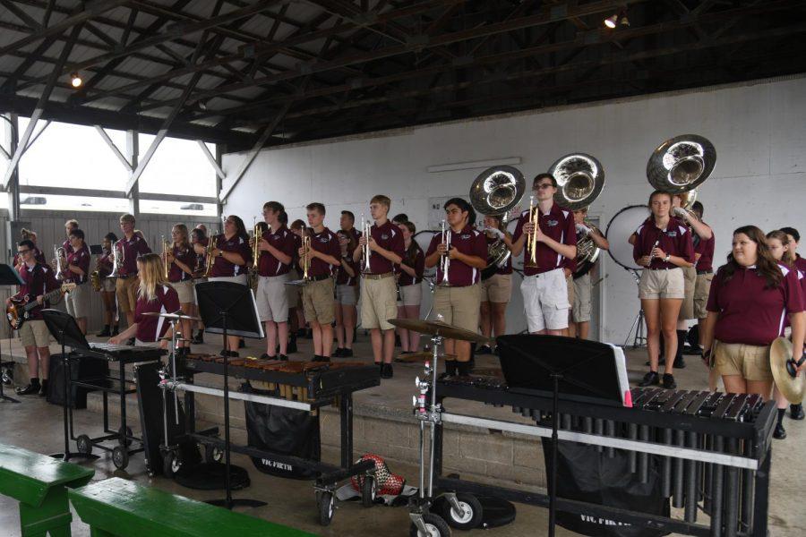 Local high school bands perform at Fair