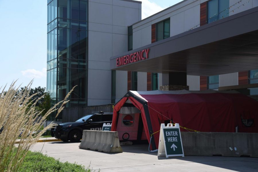 Genesis reinstalling tents, puts some surgeries on hold as COVID-19 worsens