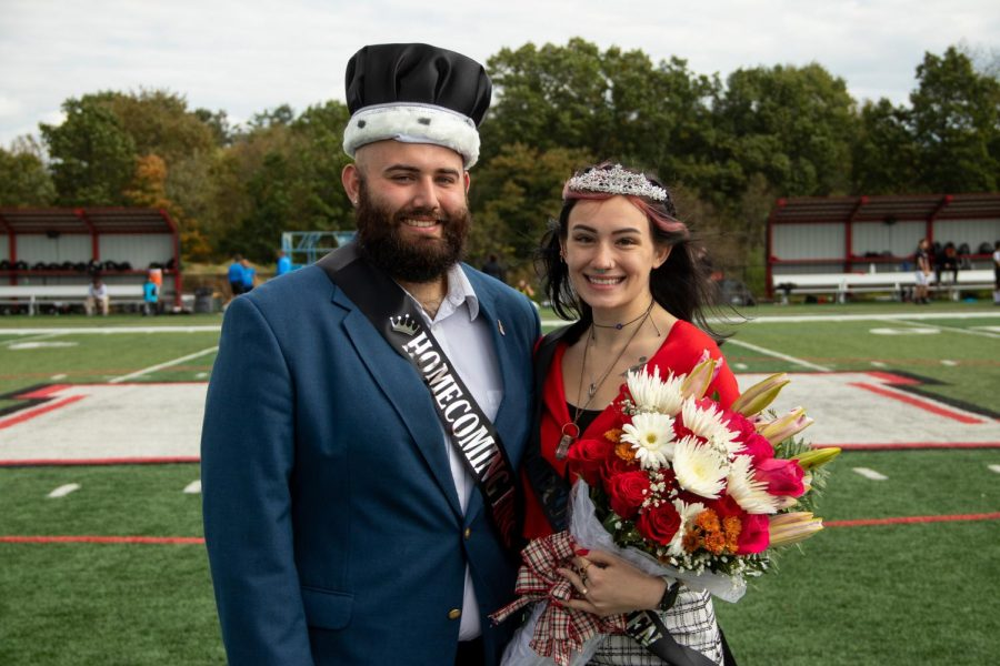 Homecoming King Caleb McManaway (left) and Queen Sydni Trudo (right).