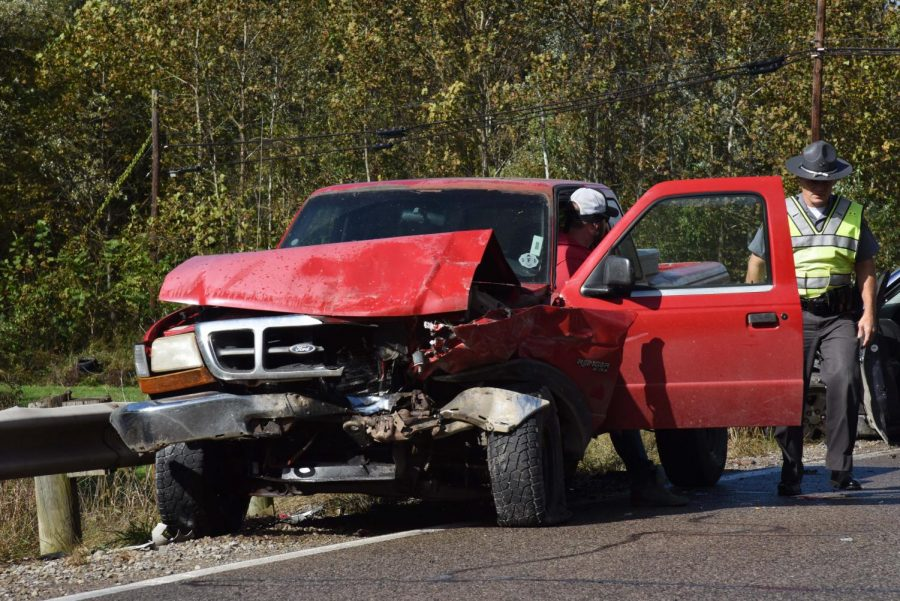 Two transported in crash Monday afternoon